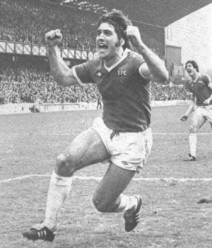 Bob Latchford celebrates