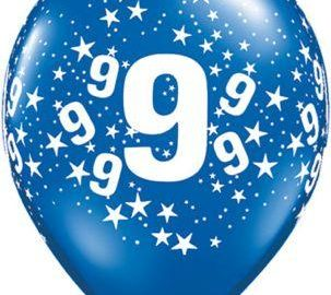 9th birthday balloon