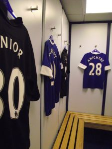 Shirts in changing room