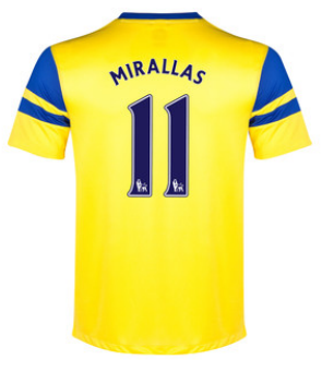 Kevin Mirallas away 2013-14