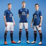 Everton players Umbro kit 2014-15