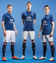 Everton players Umbro kit 2014-15