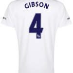 Darron Gibson Everton third shirt