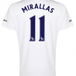 Kevin Mirallas Everton third shirt