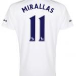 Kevin Mirallas Everton third shirt