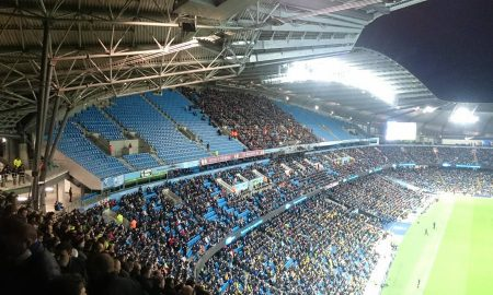 Manchester City fans at the Capital One Cup semi final 2016, from Paul Watterson