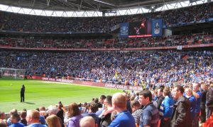Everton fans at Wembley 2012