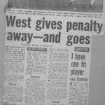 West gets sent off