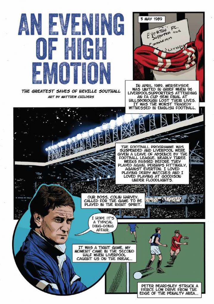 Everton comic with Neville Southall