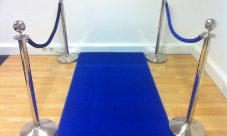 blue carpet wall