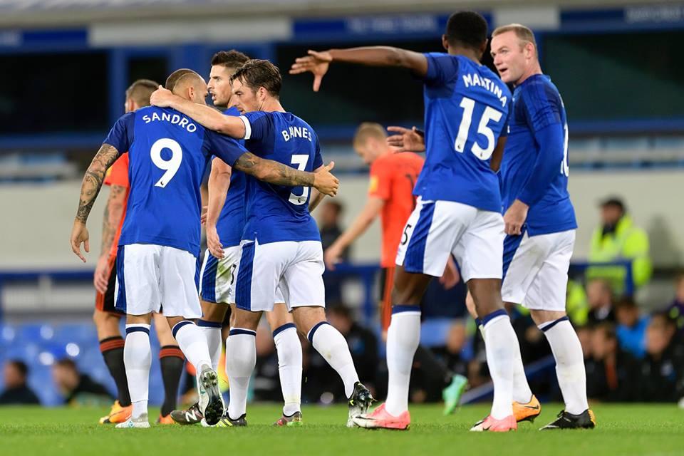 Everton winning