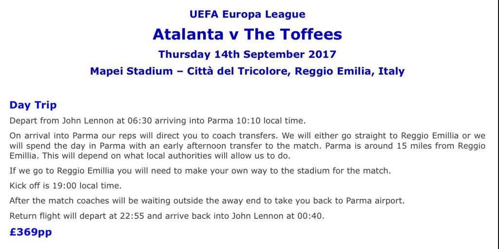 Atalanta Away