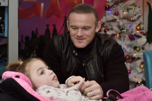 Wayne Rooney visits Claire House Children's Hospice