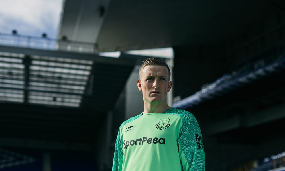 Pickford in goal