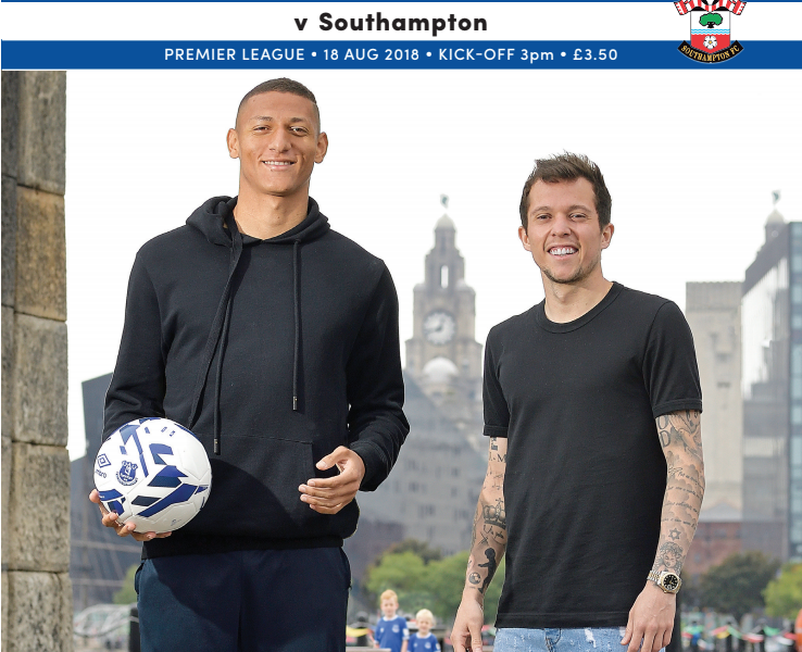 Everton Saints programme