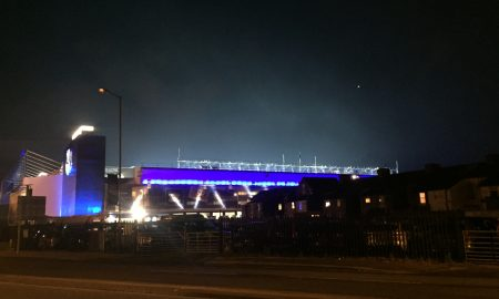 Goodison at night