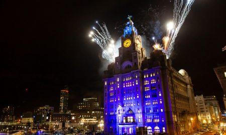 Blue liver building